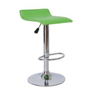 TEMPO KONDELA Laria barová stolička zelená / chrómová