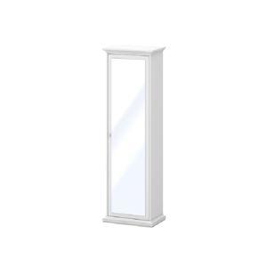 TEMPO KONDELA Paris 75356 policová skriňa so zrkadlom biela