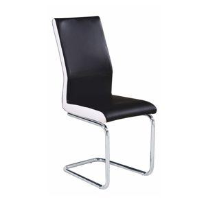 TEMPO KONDELA Neana jedálenská stolička čierna / chrómová