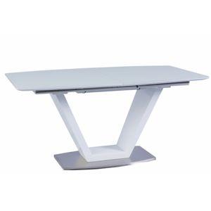 TEMPO KONDELA Perak rozkladací jedálenský stôl biela
