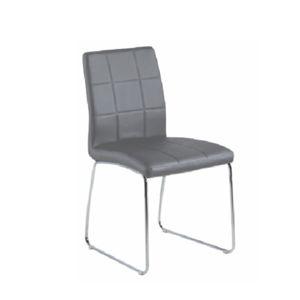 TEMPO KONDELA Sida jedálenská stolička sivá / chrómová