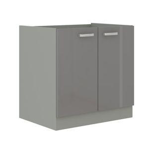 TEMPO KONDELA Prado 80 ZL 2F BB drezová kuchynská skrinka sivá