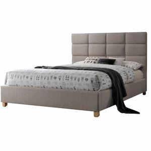 TEMPO KONDELA Pegasus 180 manželská posteľ 180x200 cm sivohnedá
