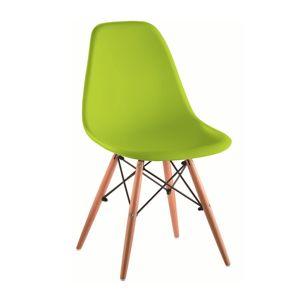 TEMPO KONDELA Cinkla 3 New jedálenská stolička zelená / buk