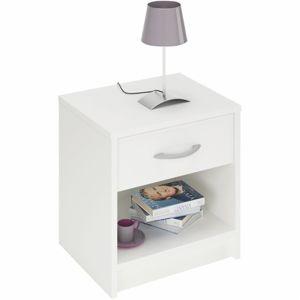 TEMPO KONDELA Bisi 305895 nočný stolík biela