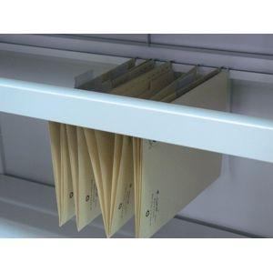 NABBI 06-2322 otvorená polica do kovovej kancelárskej skrine svetlosivá