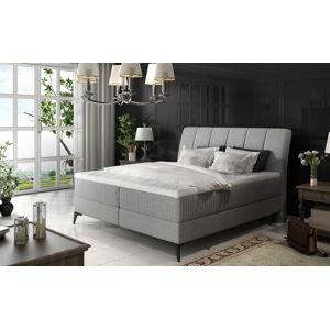 NABBI Altama 160 čalúnená manželská posteľ s úložným priestorom svetlosivá (Sawana 21)