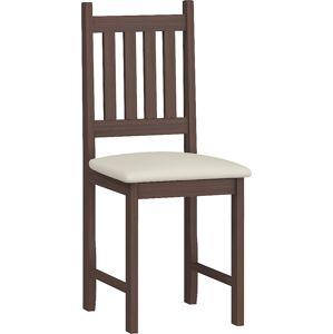 MEBLOCROSS B jedálenská stolička sonoma tmavá / béžová ekokoža