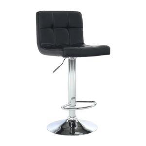 TEMPO KONDELA Kandy New barová stolička čierna / chróm
