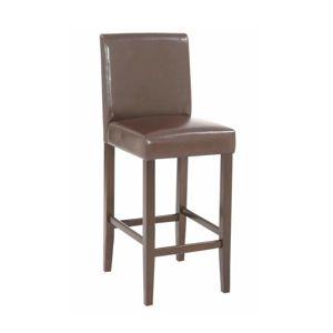 TEMPO KONDELA Mona 2 New barová stolička tmavohnedá / tmavý orech