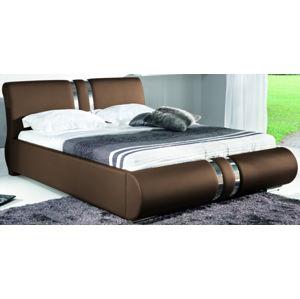 BOG-FRAN Combi 180 čalúnená manželská posteľ hnedá