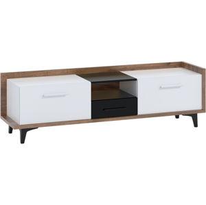 MEBLOCROSS Box Box-09 tv stolík craft tobaco / biela / čierna