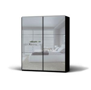 BLACK RED WHITE Colin 183 šatníková skriňa s posuvnými dverami a zrkadlom wenge