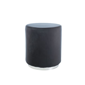 SIGNAL Furla taburetka čierna / chróm