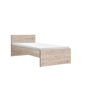 BLACK RED WHITE Ronse LOZ/90 jednolôžková posteľ dub san remo svetlý / sivý wolfram