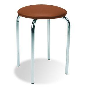 HALMAR Chico stolička bez operadla hnedá (V49)