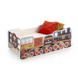 HALMAR Lokomo detská posteľ s matracom kombinácia farieb