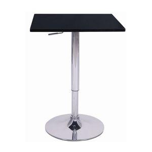 TEMPO KONDELA Florian barový stôl čierna / chróm