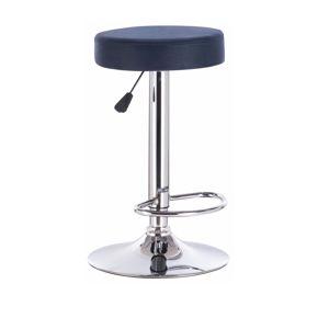 TEMPO KONDELA Galvin barová stolička petrolejová / chróm