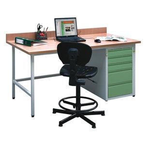 NABBI H dielenský pc stôl svetlosivá / zelená
