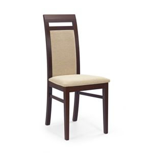 HALMAR Albert jedálenská stolička tmavý orech / béžová