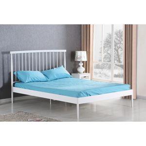 HALMAR Brenda 160 kovová manželská posteľ s roštom biela