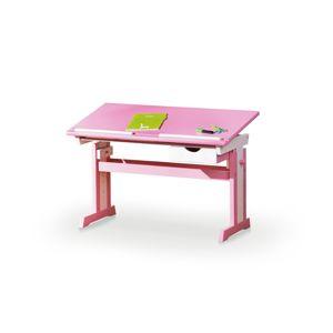 HALMAR Cecilia detský písací stôl ružová / biela