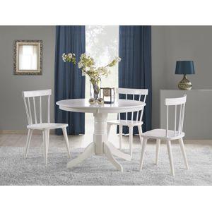HALMAR Gloster okrúhly jedálenský stôl biely lesk