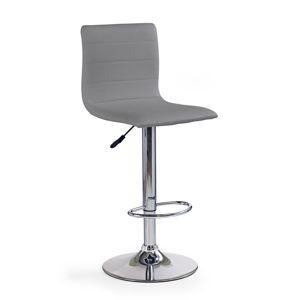 HALMAR H-21 barová stolička sivá / chróm