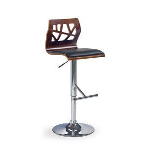 HALMAR H-34 barová stolička orech / čierna / chróm