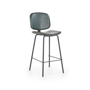 HALMAR H-84 barová stolička tmavozelená