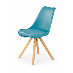 HALMAR K201 jedálenská stolička tyrkysová / buk