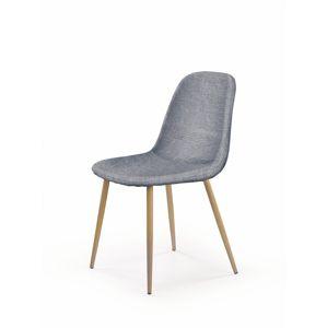 HALMAR K220 jedálenská stolička sivá / dub medový