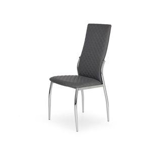 HALMAR K238 jedálenská stolička sivá / chróm