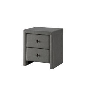 HALMAR Prima 2 čalúnený nočný stolík sivá