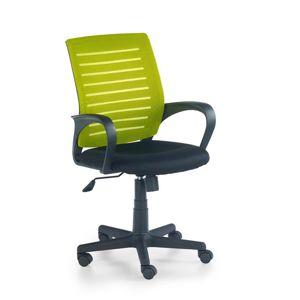 HALMAR Santana kancelárska stolička s podrúčkami zelená / čierna