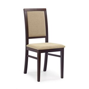 HALMAR Sylwek 1 jedálenská stolička tmavý orech / béžová