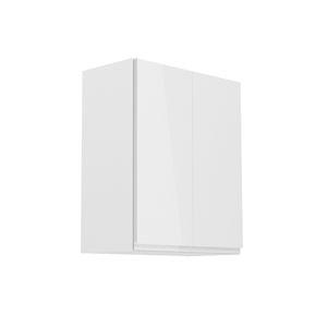TEMPO KONDELA Aurora G602F horná kuchynská skrinka biela / sivý lesk