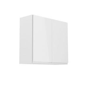 TEMPO KONDELA Aurora G80 horná kuchynská skrinka biela / sivý lesk