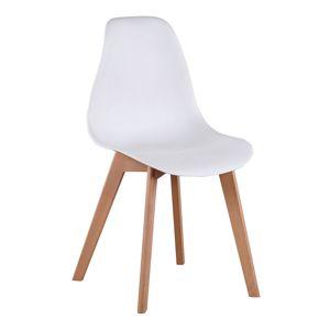 TEMPO KONDELA Ayna jedálenská stolička biela / buk