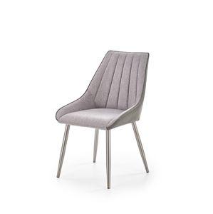 HALMAR K311 jedálenská stolička tmavosivá / svetlosivá / oceľová