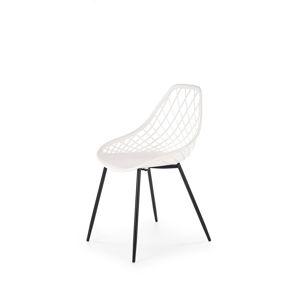 HALMAR K330 jedálenská stolička biela / čierna