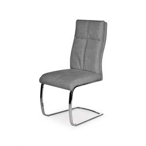 HALMAR K345 jedálenská stolička sivá / chróm