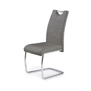 HALMAR K349 jedálenská stolička sivá / chróm