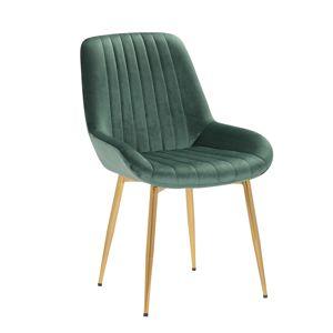 TEMPO KONDELA Perlos jedálenská stolička smaragdovozelená / zlatá