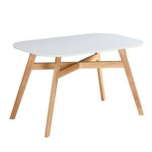 TEMPO KONDELA Cyrus 2 New jedálenský stôl biela / prírodná