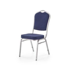 HALMAR K68 konferenčná stolička modrá / strieborná