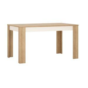 TEMPO KONDELA Leonardo LYOT03 rozkladací jedálenský stôl dub riviera / biela
