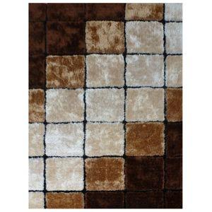 TEMPO KONDELA Ludvig Typ 3 koberec 100x140 cm béžová / hnedá