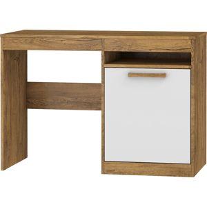 MEBLOCROSS Maximus MXS-02 pc stôl dub burgundský / biely lesk